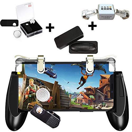 PUBG Mobile Game Controller - WENTS Controlador de juegos móvil incluye joystick gamepad y un disparador de juego de 1 par, compatible con PUBG Mobile / Fortnite
