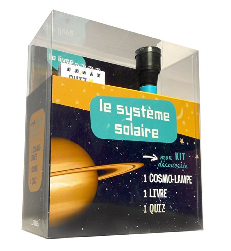 Le système solaire : Kit découverte : 1 cosmo-lampe, 1 livre et 1 quiz