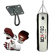 Box-Tec Boxsack/Punching Bag Studioline 120cm, gefüllt, Black & White - Edition, Cuba