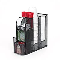 Mind Reader Breakroom Organizer -Coffee/Tea Condiment and Accessories Caddy