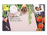 GRAZDesign 501697_60x40_GL_MT Glas-Magnettafel für Küche | Magnet - und Schreibtafel | Gemüse und Kräuter mit Buntem Pfeffer | Küchenbild aus Glas für Notizen (60x40cm)