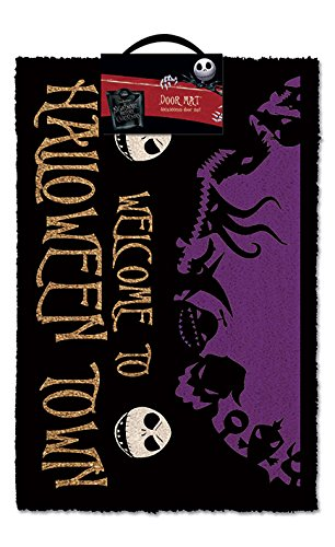 Nightmare Before Christmas Matte Halloween Town Fußmatte Disney 60x40cm Kokos schwarz