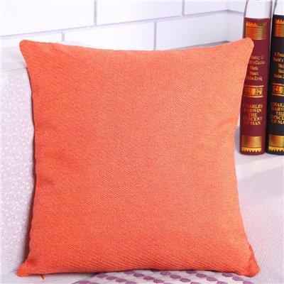 MAYUAN520 Coussins Solide d'oreiller en Coton Violet Rouge Taille Coussin Oreiller Voiture Housse Canapé Fauteuil Siège Textile Accueil Taie, Orange