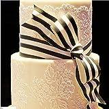 VAK Fondanttorten-Schablone aus Kunststoff, Tortenbordüre, Tortenband, Tortenglasur-Dekozubehör, Backform für Hochzeits- und Geburtstagstorten, DIY-Dekoration Muster 04