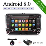 7'' Double Din Android 8.0 Quad coreCar DVD Player Navigation for VW Volkswage,Support