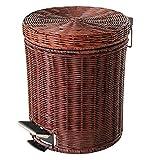 GMM® bidoni WC mobilia Rattan bidoni pedale cucina creativa tessuto bidone con coperchio cestini