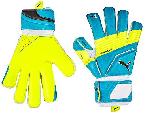 PUMA Torwarthandschuhe EvoPower Super 3, Atomic Blue/Safety Yellow/Black, 10 -