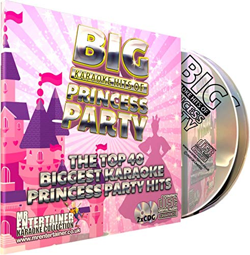 Mr Entertainer Big Karaoke Hits of Princess Party - Double CD+G (CDG) Pack. 40 Best Ever Girls Kids Children's Disney Party Songs. Prinzessin und Kinder Party (Karaoke Song Pack)