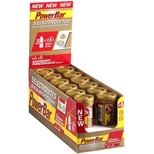Elektrolyte Tabletten 5 Electrolytes – Brausetabletten mit 5 Mineralstoffen – Erfrischender Drink mit Natrium, Chlorid, Kalium, Magnesium und Calcium – Himbeere Granatapfel 12 x 42 g