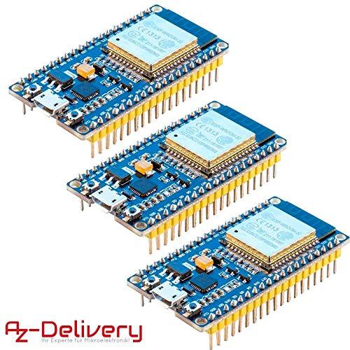 AZDelivery ⭐⭐⭐⭐⭐ 3 x ESP32 NodeMCU Module WLAN WiFi Development Board mit CP2102 (Nachfolgermodell zum ESP8266) und gratis eBook! -