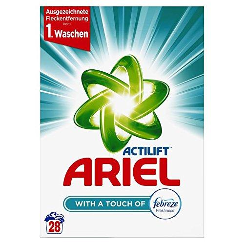 Ariel Vollwaschmittel mit Febreze Pulver, 4er Pack (4 x 28 Waschladungen)