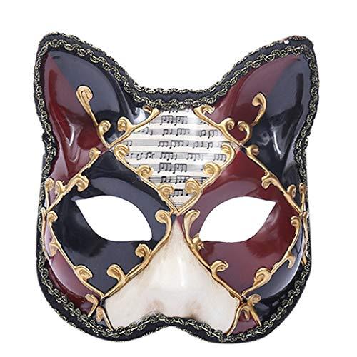 Griechische Kostüm Paare - htfrgeds Classic - Herren Maskerade Maske Paare Paar Karneval Venezianische Maskerade Masken Set Party Kostüm Zubehör Cat King