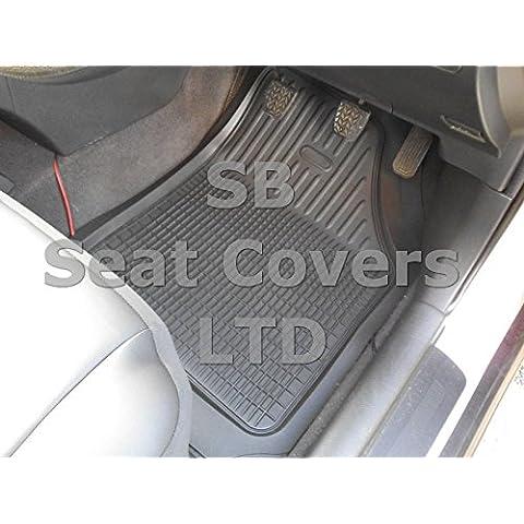 Toyota Hilux–Alfombrillas de goma PVC–de profundidad bandeja negro 5piezas rm501