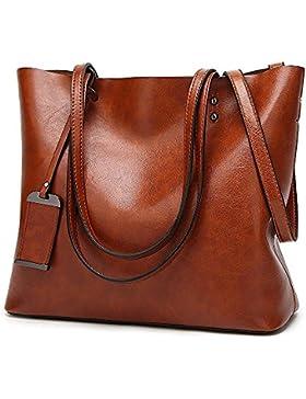 Modemoven Damen Handtaschen Top Griff Satchel Schultertasche Lady Messenger Tote Bag Geldbörse