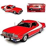 alles-meine.de GmbH Ford Mustang Gran Torino Starsky und Hutch Rot 1976 1/24 Greenlight Modell Auto