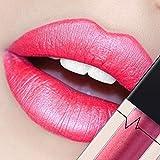 CICIYONER Damen Metall Lippenstift Lip Gloss Liquid Lippe Kosmetik, 24 Farben (03 #)