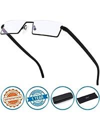 CGID lunettes de lecture Anti lumière bleue, monture demi cerclée en TR90, pour hommes et femmes, XBK001