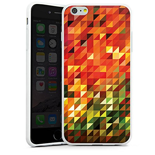 Apple iPhone X Silikon Hülle Case Schutzhülle Kristalle Herbst Abstrakt Silikon Case weiß