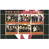 Die Rolling Stones Miniatur-Briefmarkenbogen für Sammler - 6 Mint und post Briefmarken / Stand 2009 / Kongo / 300F
