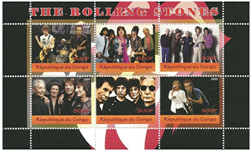the-rolling-stones-miniature-stamp-sheet-for-collectors-6-mint-and-never-mounted-stamps-issued-2009-