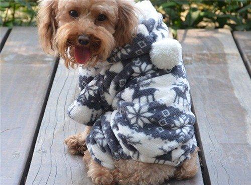 QIYUN.Z Casual Vier Beine Schwarz Weißem Samt Schnee Rehe Weihnachten Hoodie Hund Pullover Winter Warme Jacke Haustier Hunde Bekleidung & Zubehör Shirts Sweater Hoodies S M L Xl Xxl - 4