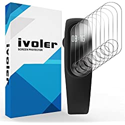 iVoler [Pack de 8] Protection écran pour Xiaomi Mi Band 2, Couverture Complète [Liquide Installation] [Anti-Rayures] [sans Bulles] TPU Film Protecteur HD Transparent