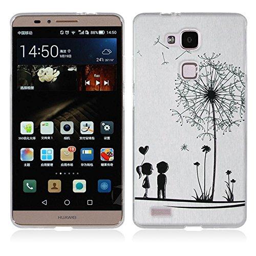 Huawei Ascend Mate 7 Hülle, Fubaoda 3D Erleichterung Mode Muster TPU Case Schutzhülle Silikon Case für Huawei Ascend Mate 7