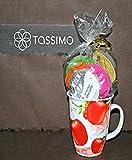 Tassimo T Disc Probierpaket: Alle Tassimo Teesorten mit Teetasse aus feinem Porzellan verschiedene Dekore 400ml (Apple)