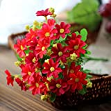 Ouneed® Blumenstrauß Kunstblumen, 28 Kopf Mini künstliche Calla Lilien Hochzeit Blumen Bouquet Calla Schaum Dekor (Rot)