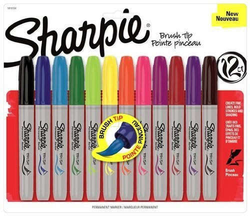 sharpie-1810704-brush-tip-permanent-marker-assorted-colors-12-pack-by-sanford-english-manual