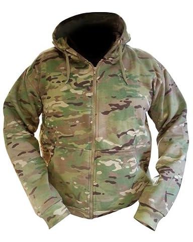Zip Zap Zooom Sweat à capuche pour homme Fermeture Éclair sur toute la longueur Style camouflage militaire armée combat UTP Polaire - -