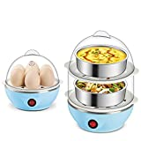 Double Layer Multifunctional Electric 14 Egg Boiler Egg Cooker Steamer Poacher Kitchen Cooking Tools