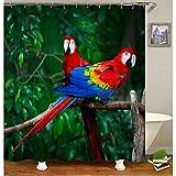 saknn-da Duschvorhang Tier Duschvorhänge Flamingo Phoenix Papagei Muster Vorhänge für Bad Wasserdichtes Gewebe Bad Vorhänge