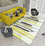 Oudan Teppiche Moderne minimalistische Nortic Mode Geometrische Muster Teppiche Wohnzimmer Sofa Tee Tischsets Baby Krabbeln Mat Wohnzimmer/Schlafzimmer/Arbeitszimmer/Restaurant Teppich (Gelb) (Größe: