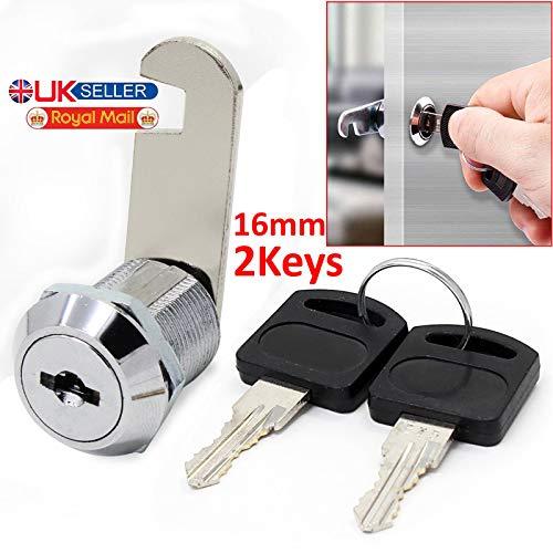 Gadget zone UK sicurezza Mailbox Lock in acciaio INOX cassetto armadio Cam Lock con chiavi uguali,