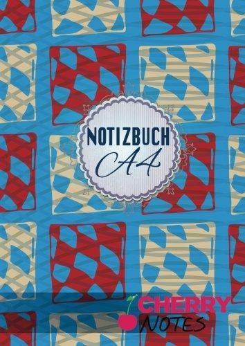 Notizbuch A4: Notizbuch | Notebook | Blankobuch | Format DIN A4 - 152 freie Seiten Leer / Punktiert- Weiß- Inklusive Register Index Original Cherry Notes Notizbuch | Design Würfel