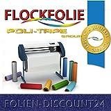 (EUR 25,80 / Quadratmeter) FLOCKFOLIE Royal Blau 506 / TBT 300 BÜGELFOLIE TOP ! Preistip Flex Flock 1 M x 50 cm
