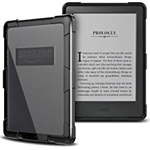 Cover Per Kindle Paperwhite, Yokata Rigida PC e Morbido TPU Sottile Custodia Trasparente Rigida Plastico Copertura Soft Bordo Bumper Shockproof Resistance Protective Duro Shell - Nero - Baseball Angolo