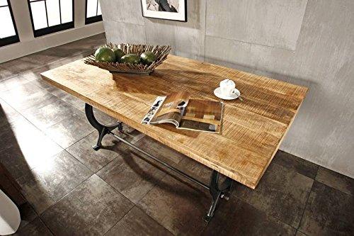 mobili in legno massello stile industriale TAVOLO DA PRANZO 180X90 ...