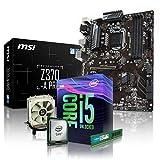 PC Aufrüstkit Intel, i5-9600K 6x3.7 GHz, 4GB DDR4, Intel UHD Grafik 630-1GB, Mainboard Bundle, Tuning Kit, fertig montiert, Spiele Office zusammengestellt in Deutschland Desktop Rechner