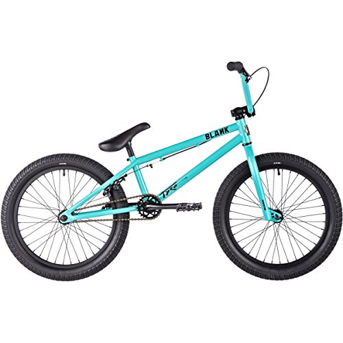Blank Tyro BMX Bike 2017 18.5in Top Tube 20in Wheel Gloss Teal