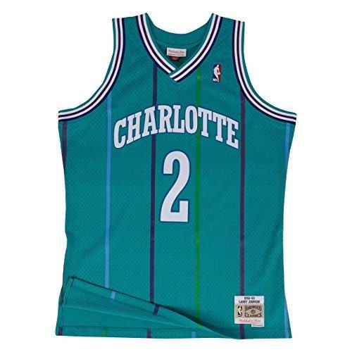 95e46ab8a Mitchell   Ness NBA Charlotte Hornets Larry Johnson 1992-93 Retro Jersey  Swingman Oficial Away