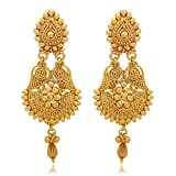 #7: YouBella Jewellery Gold Plated Fancy Party Wear Earrings for Girls and Women