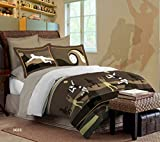 Bombay Dyeing Brown Spree Cotton Double Bedsheet with 2 Pillow Covers