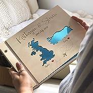 Guestbook matrimonio, Mape, libro delle firme e dediche del matrimonio, con copertina legno, personalizzato, n