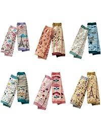 Pack de 6Cute Bebé Pierna Calentadores de manga–Calentador de rodilla calcetines de dibujos animados–Calcetines de mejor regalo para tus Darling Kids