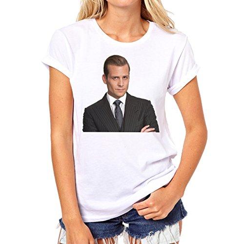 Suits Harvey Spectre Mike Ross Famous Words He's The Man Layer 1 Damen T-Shirt Weiß