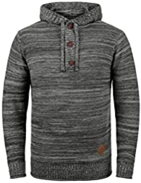Solid Melker Pull À Capuche En Maille Pull-Over Tricot Pour Homme 100% c6176c29757c
