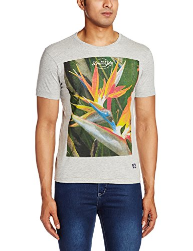 Flying Machine Men's T-Shirt (8907259685847_FMTS6262_Large_Grey)