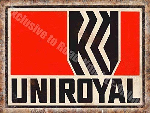 Uniroyal Reifen, Vintage Garage Werbung 194, Motorsport Öl aus Metall/Stahl Wandschild - 30 x 20 cm (Uniroyal Reifen)